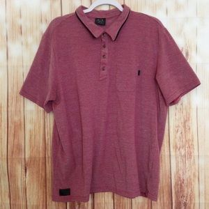 Vintage | Marley Knit Red White Oakley Polo Shirt
